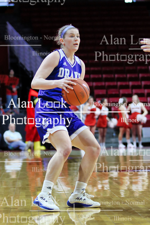 NORMAL, IL - January 06: Sammie Bachrodt during a college women's basketball game between the ISU Redbirds and the Drake Bulldogs on January 06 2019 at Redbird Arena in Normal, IL. (Photo by Alan Look)