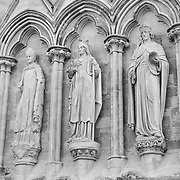 Salisbury Cathedral Statues - Salisbury, UK - Black & White