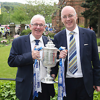 St Johnstone v Dundee United....18.05.14   William Hill Scottish Cup Final<br /> Tommy Campbell and Paul Smith pictured with the Scottish Cup<br /> Picture by Graeme Hart.<br /> Copyright Perthshire Picture Agency<br /> Tel: 01738 623350  Mobile: 07990 594431