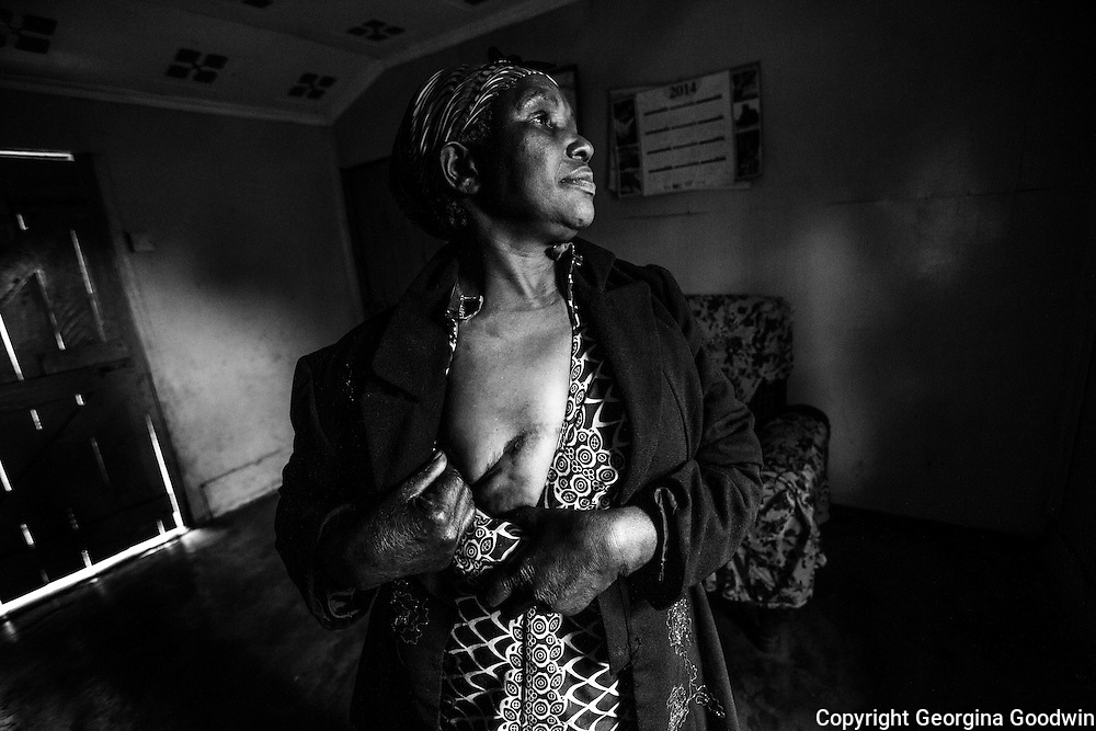 Breast cancer survivors, women from the rural area of Kiambu District in Ting'ang'a. This photo series is part of the on-going personal project by Kenyan photographer Georgina Goodwin looking at the rise of #CancerInAfrica.