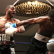 DAYTONA BEACH, FL - FEBRUARY 08:  Stevie Massey (L) punches Marcus Coney during their boxing match at Hard Rock Hotel Daytona on February 8, 2020 in Daytona Beach, Florida. (Photo by Alex Menendez/Getty Images) *** Local Caption *** Stevie Massey; Marcus Coney