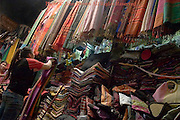 Beautiful and elaborate Khmer cloth material for making dresses is for sale at a shop at the Russian Market in Phnom Penh, Cambodia.