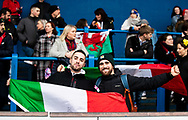 Italy fans enjoying the pre match atmosphere<br /> <br /> Photographer Simon King/Replay Images<br /> <br /> Six Nations Round 1 - Wales Women v Italy Women - Saturday 2nd February 2020 - Cardiff Arms Park - Cardiff<br /> <br /> World Copyright © Replay Images . All rights reserved. info@replayimages.co.uk - http://replayimages.co.uk