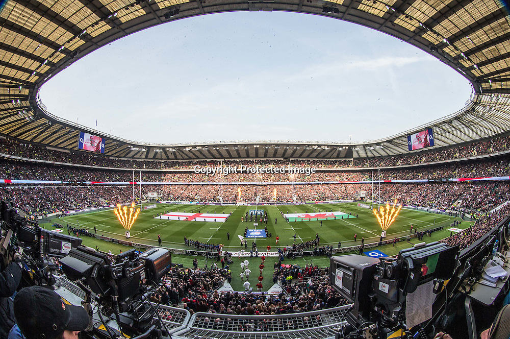 RBS 6 Nations Championship Round 4, Twickenham Stadium, London, England 12/3/2016<br /> England vs Wales<br /> A view of Twickenham during the game<br /> Mandatory Credit &copy;INPHO/James Crombie