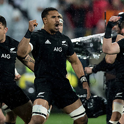 Haka by All Blacks during game 9 of the British and Irish Lions 2017 Tour of New Zealand, the second Test match between  The All Blacks and British and Irish Lions, Westpac Stadium, Wellington, Saturday 1st July 2017<br /> (Photo by Kevin Booth Steve Haag Sports)<br /> <br /> Images for social media must have consent from Steve Haag