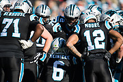 December 23, 2018. Panthers vs Falcons. Taylor Heinicke, QB leads the huddle