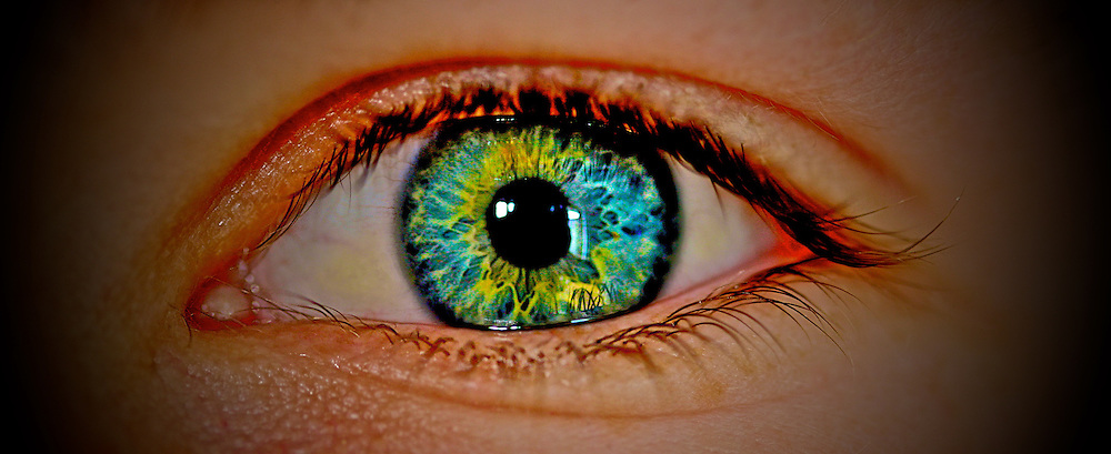 Macro shot of an eye by Jaydon Cabe, this eye is an mazing colour and i could not help shooting it