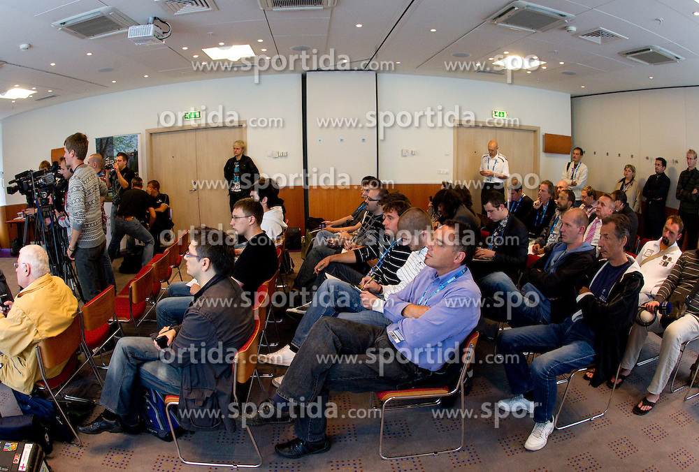 Journalists at presentation of Eurobasket Slovenia 2013, on September 8, 2011, in Hotel Novotel,  Vilnius, Lithuania.   (Photo by Vid Ponikvar / Sportida)