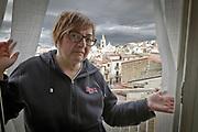 Mezzojuso: Ina Napoli, una delle sorelle vittima dei sorpusi della mafia dei pascoli del territorio.<br /> Mezzojuso, Sicily: Ina Napoli victim of&quot;cattle mafia&quot;