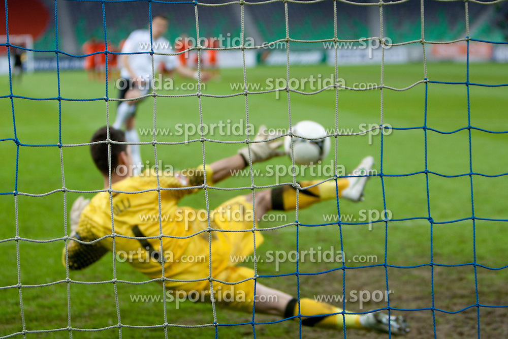 Penalty during the UEFA European Under-17 Championship Final match between Germany and Netherlands on May 16, 2012 in SRC Stozice, Ljubljana, Slovenia. (Photo by Urban Urbanc / Sportida.com)