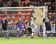 Dunfermline's  Joe Cardle scores his side's second goal - Dunfermline Athletic v Dundee - Scottish League Cup at East End Park<br /> <br />  - © David Young - www.davidyoungphoto.co.uk - email: davidyoungphoto@gmail.com