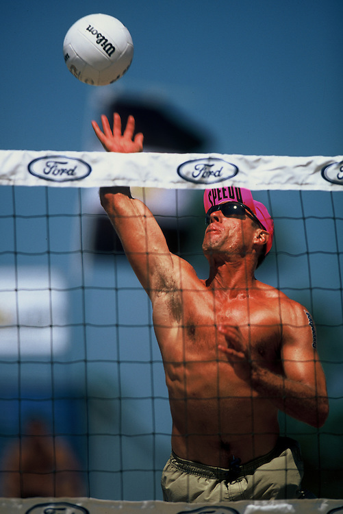 AVP Professional Beach Volleyball - Santa Barbara, CA - 2001 - Karch Kiraly -  Photo by Wally Nell/Volleyball Magazine