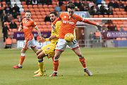 Blackpool Midfielder, Jordan Thompson (15)  during the EFL Sky Bet League 1 match between Blackpool and Bristol Rovers at Bloomfield Road, Blackpool, England on 3 November 2018.