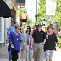 Downtown Tupelo Main Street Executive Director Debbie Brangenburg, left, gives a tour of downtown Tupelo to members of the Mississippi Main Street Association and National Main Street Center as they spend the day in town.