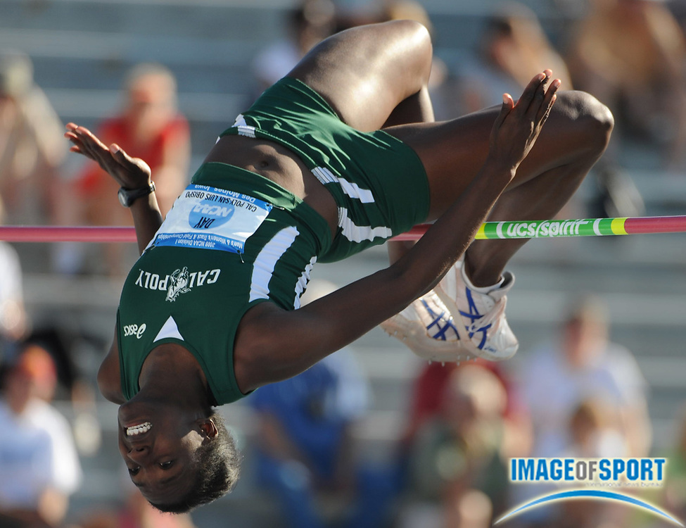 Jun 13, 2008; Des Moines, IA; Sharon Day of Cal Poly San Luis Obispo was second in the women's high jump at 6-1 1/4 (1.86m) in the NCAA Track & Field Championships at Drake Stadium.