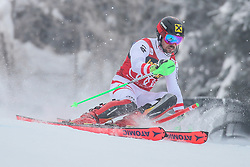 Marcel Hirscher (AUT) during 1st run of Men's Slalom race of FIS Alpine Ski World Cup 57th Vitranc Cup 2018, on March 4, 2018 in Kranjska Gora, Slovenia. Photo by Ziga Zupan / Sportida