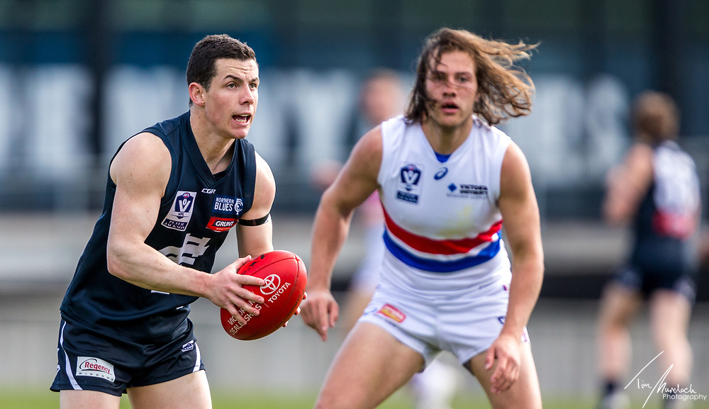 Saturday 5 August 2017<br /> <br /> 2017 Peter Jackson VFL Season<br /> <br /> Northern Blues vs Footscray<br /> Ikon Park<br /> <br /> #PJVFL #WeMarchNorth<br /> <br /> Photo Credit: Tim Murdoch/Tim Murdoch Photography