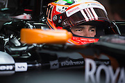 March 28, 2014 - Sepang, Malaysia. Malaysian Formula One Grand Prix. Sergio Perez (MEX), Force India-Mercedes<br /> <br /> © Jamey Price / James Moy Photography