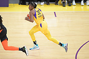 Los Angeles Sparks forward Nneka Ogwumike (30) dribble up court during a WNBA basketball game, Friday, May 31, 2019, in Los Angeles.The Sparks defeated the Sun 77-70.  (Dylan Stewart/Image of Sport)