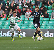 Dundee's Willie Dyer and Celtic's Kris Commons -  Celtic v Dundee - SPFL Premiership at Celtic Park<br /> <br /> <br />  - © David Young - www.davidyoungphoto.co.uk - email: davidyoungphoto@gmail.com