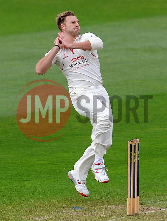 Lancashire's Kyle Jarvis.  - Photo mandatory by-line: Harry Trump/JMP - Mobile: 07966 386802 - 07/04/15 - SPORT - CRICKET - Pre Season - Somerset v Lancashire - Day 1 - The County Ground, Taunton, England.