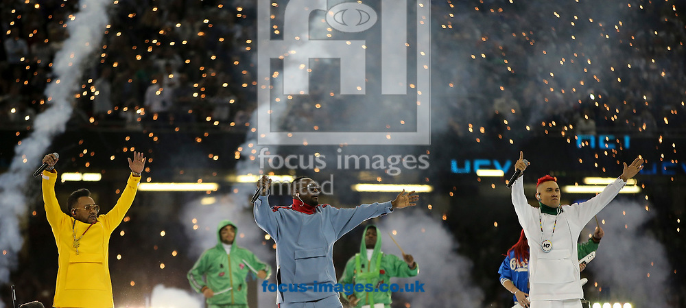 The Black Eyed Peas perform before the UEFA Champions League Final at the Principality Stadium, Cardiff<br /> Picture by Mike Griffiths/Focus Images Ltd +44 7766 223933<br /> 03/06/2017