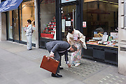 Geisha ladies collect money from westerners in London for the Japanese Red Cross Tsunami appeal