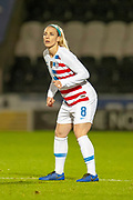 Julie Ertz (#8) (Chicago Red Stars) of the USA during the Women's International Friendly match between Scotland Women and USA at the Simple Digital Arena, Paisley, Scotland on 13 November 2018.