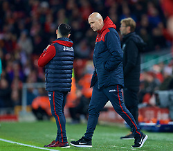 LIVERPOOL, ENGLAND - Boxing Day, Tuesday, December 26, 2017: Swansea City's assistant care-taker manager Cameron Toshack during the FA Premier League match between Liverpool and Swansea City at Anfield. (Pic by David Rawcliffe/Propaganda)