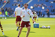 Burnley midfielder Joey Barton (13) in warm up during the Sky Bet Championship match between Brighton and Hove Albion and Burnley at the American Express Community Stadium, Brighton and Hove, England on 2 April 2016. Photo by Phil Duncan.