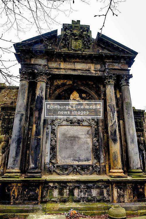 A tomb in Grey Friars church yard in Edinburgh, Scotland<br /> <br /> (c) Andrew Wilson   Edinburgh Elite media