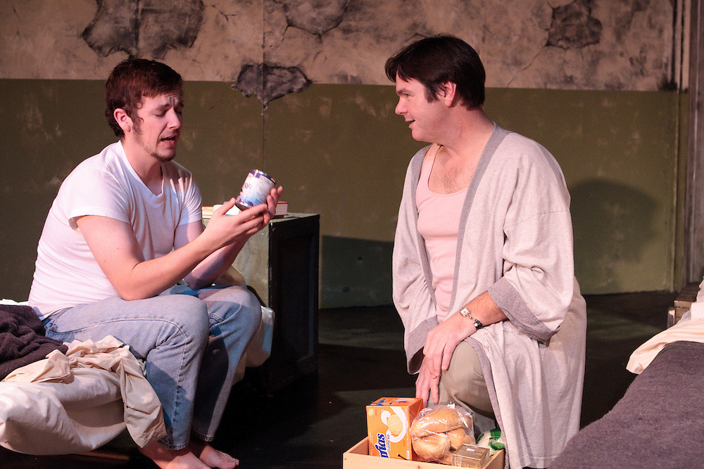 """Bay Area Stage presents """"Kiss of the Spider Woman"""" starring Peter Del Fiorentino and Drew McMillan at the Missouri Street Theatre in Fairfield, CA. Photo by Mike Padua. November, 2010."""