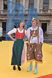 Grayson Perry and his wife Philippa Perry at the Royal Academy of Arts Summer Exhibition Preview Party 2017, Burlington House, London England. 7 June 2017.