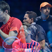 20.11.2016 ATP World Tour Finals at O2 Arena London UK  Doubles Final Henri Kotinen Finland and John Peers Australia vs Raven Klassen South Africa and Rajeev Ram USA Photo:Leo MasonSplit Second