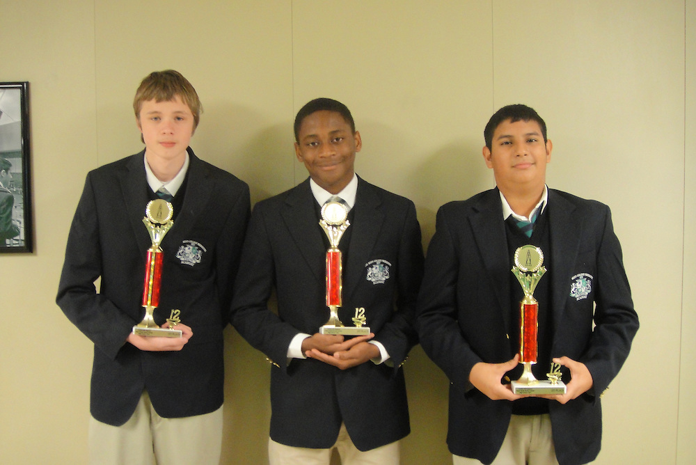 Three 10th-graders from Young Men's College Preparatory Academy won first place in a regional water rocket competition hosted by Science, Engineering, Communication, and Math Enhancement (SECME). The competition requires students to design and build a rocket that can be launched with water and compressed air.<br />