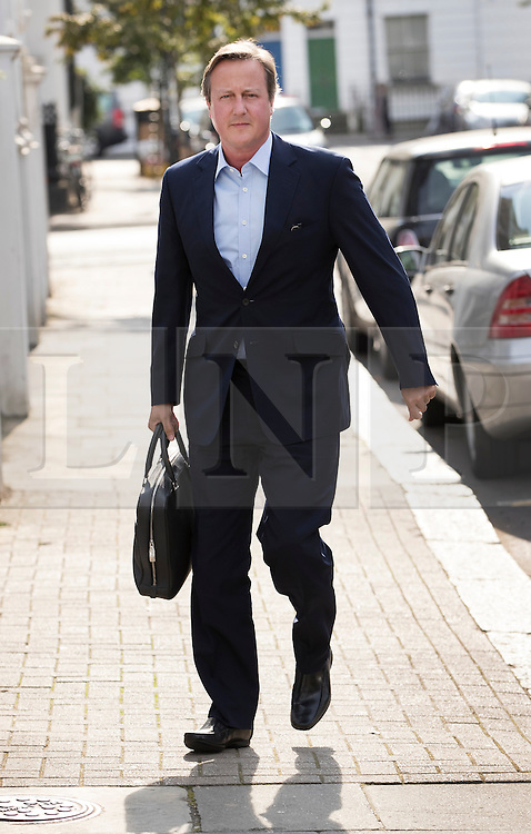 © Licensed to London News Pictures. 13/09/2016. London, UK. Former Prime Minister David Cameron arrives at a new London address on the day after he resigned as an Member of Parliament. Photo credit: Peter Macdiarmid/LNP