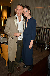 MARIA GRACHVOGEL and MIKE SIMCOCK  at a party to celebrate Stuart Semple as artist in residence at The Bulgari Hotel held at Il Bar, Bulgari Hotel, 171 Knightsbridge, London on 14th October 2015.