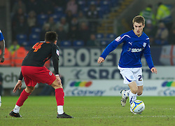CARDIFF, WALES - Tuesday, February 1, 2011: Cardiff City's Aaron Ramsey in action during the Football League Championship match at the Cardiff City Stadium. (Photo by Gareth Davies/Propaganda)