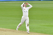 Daryl Mitchell of Worcestershire looks frustrated while bowling during the Specsavers County Champ Div 1 match between Hampshire County Cricket Club and Worcestershire County Cricket Club at the Ageas Bowl, Southampton, United Kingdom on 13 April 2018. Picture by Graham Hunt.