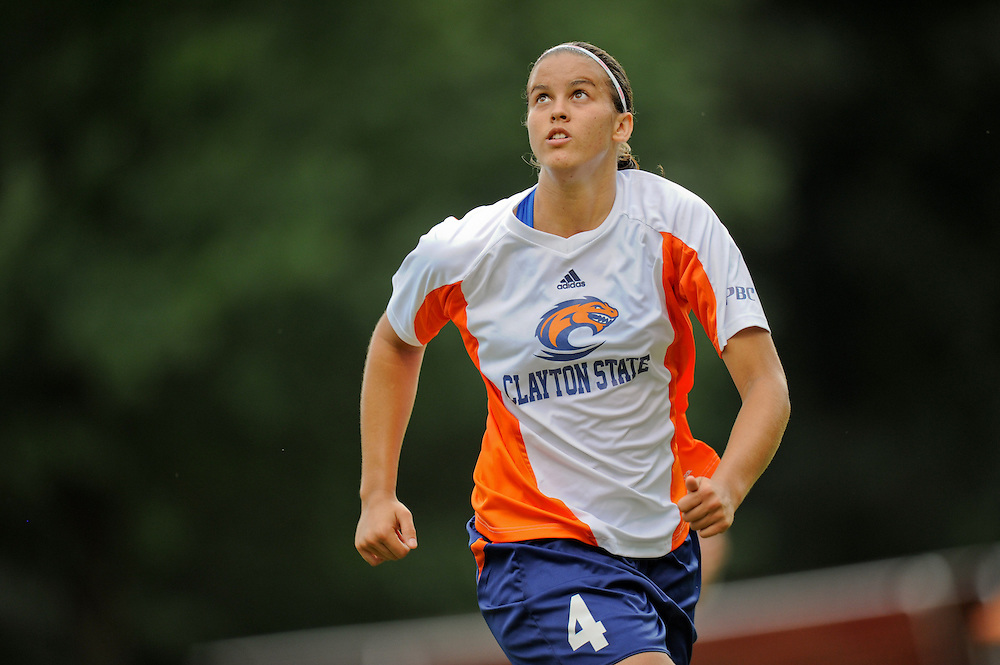 Sept. 15, 2012; Morrow, GA, USA; Clayton State women's soccer player Silvia Espelt against the Flagler at CSU. Photo by Kevin Liles/kdlphoto.com