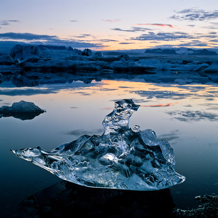 Some of the icebergs in Jokulsarlon have strange forms, resembling animals or objects