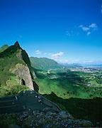 Nuuanau, Pali Lookout, Oahu, Hawaii, USA<br />