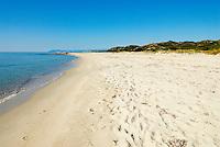 Italie. Sardaigne. Plage de Biderrosa sur la cote Est // Italy. Sardinia. Biderrosa beach on the East coast