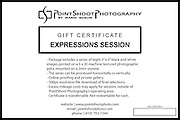 PointShoot Photography gift certificate for Expressions photo session.