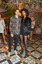 Aiden Curtiss and Felix Prabitz at The Ivy Chelsea Garden Summer Party ,The Ivy Chelsea Garden, King's Road, London, England. 14 May 2019. <br /> <br /> ***For fees please contact us prior to publication***