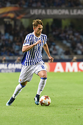 November 2, 2017 - San Sebastian, Gipuzkoa - Basque Country, Spain - Adnan Januzaj of Real Sociedad during the UEFA Europa League Group L football match between Real Sociedad and FK Vardar at the Anoeta Stadium, on 2 November 2017 in San Sebastian, Spain  (Credit Image: © Jose Ignacio Unanue/NurPhoto via ZUMA Press)