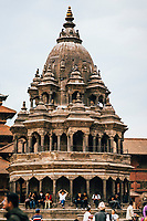 Crowds at Patan's Durbar Square.