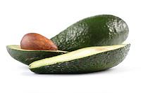 Studio shot of avocado fruits