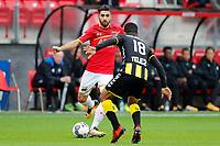 (L-R) Joris van Overeem of AZ Alkmaar, Urby Emanuelson of FC Utrecht
