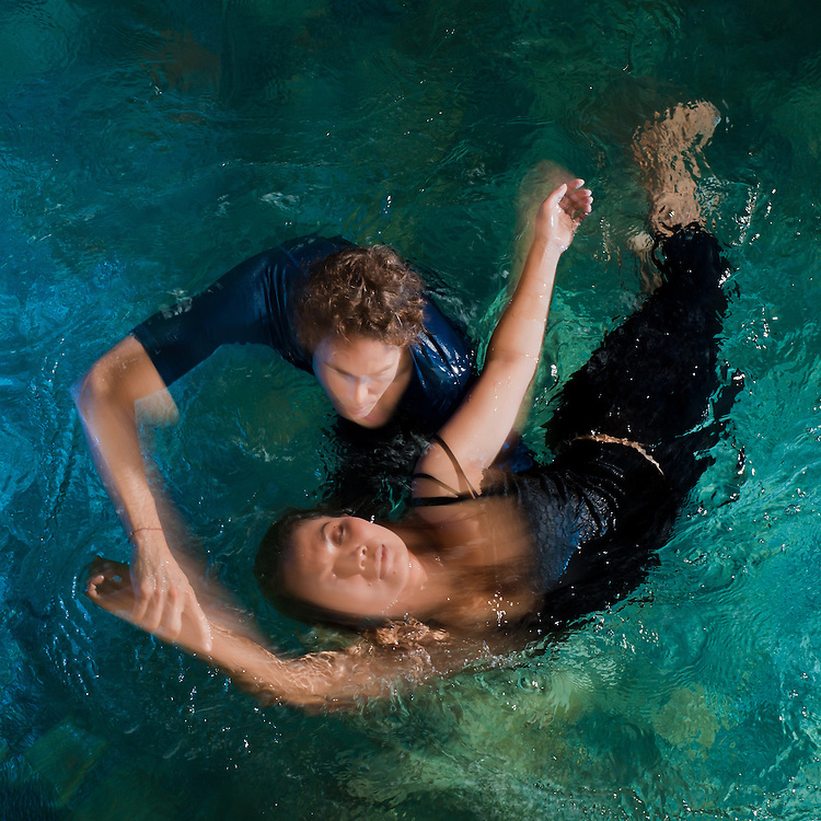 Watsu (water shiatsu) master Michael Hollock offers therapy at Fivelements in a dedicated warm water pool.